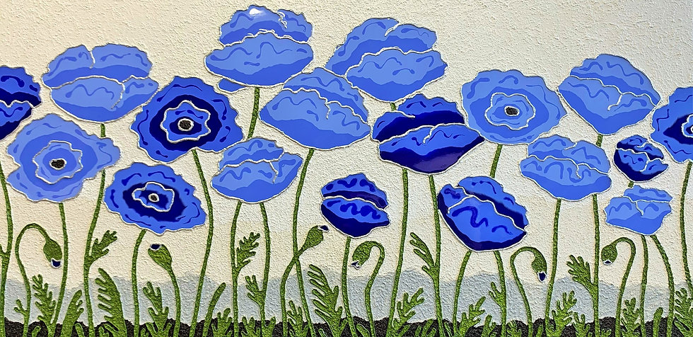 "Poppies Joy (48"" x24"" x 1.5"")"