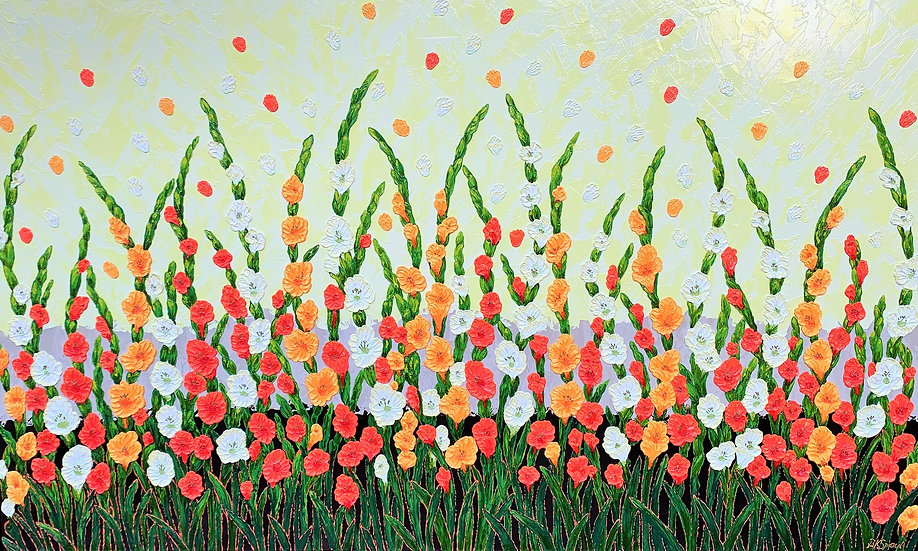 "Splendor of Flowers (60"" x 36"" x 1 1/2"")"