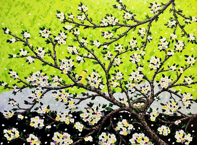 """Lovely Spring (48"""" x 36"""" x 1 1/2"""")"""