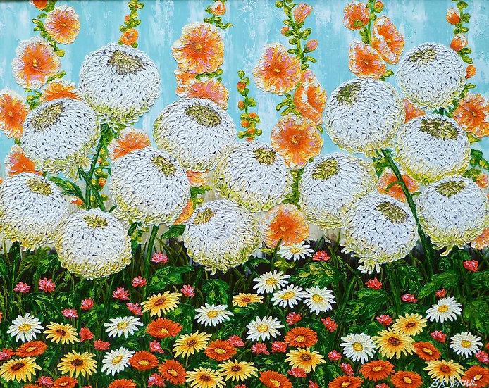 "Chrysanthemum Arrangement 30"" x 24"""