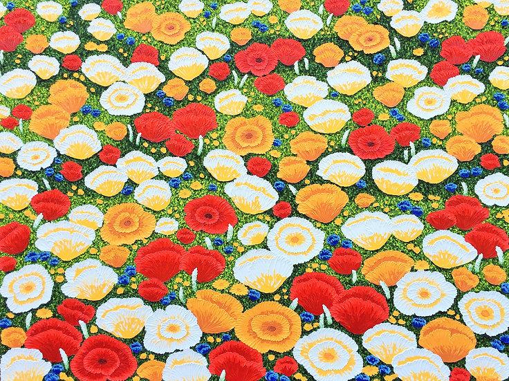 """Poppy Field (48"""" x 36"""" x 1 1/2"""")"""