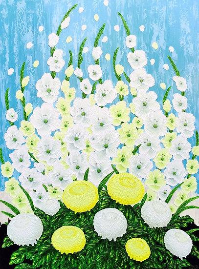 """Gladiolas & Chrysanthemums (36"""" x 48"""")"""
