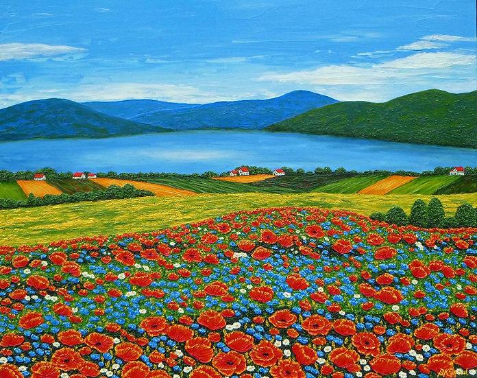 """Joyful Landscape 30"""" x 24"""" x 7/8"""""""