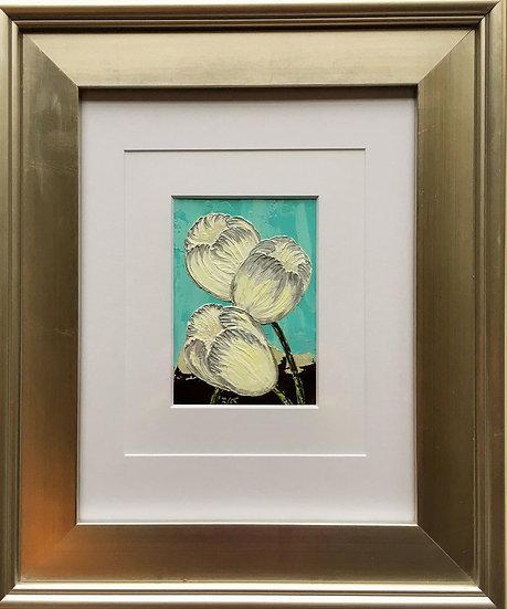 """Tulips Trio II 5"""" x 7"""" (frame 19"""" x 16"""")"""
