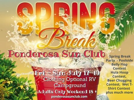 Spring Break 2020 at Ponderosa !!  Adults Only Weekend