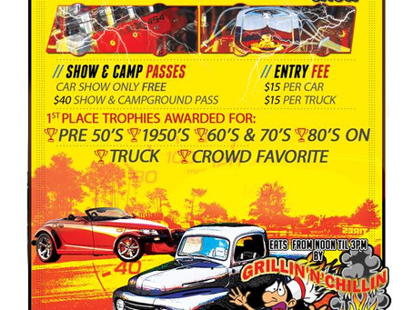 Car & Truck Show this Weekend at Ponderosa Sun Club!!