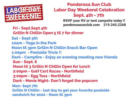 Come Celebrate Labor Day Weekend at Ponderosa Sun Club