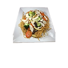 57a.  CHICKEN STIR FRIED EGG NOODLE