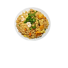 72. SEAFOOD FRIED RICE ( shrimp, squid, fried fish cube),