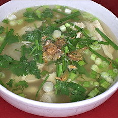 16. CHICKEN NOODLE SOUP (Beef broth)