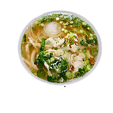 21. CHICKEN RICE NOODLE SOUP (Chicken broth)