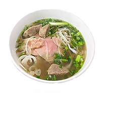 18. CREATE YOUR OWN PHO (PICK 2 OPTIONS: Rare beef, well done flank, tendon, meatball, or tripe w/ beef broth.