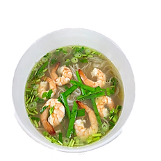 22. SHRIMP RICE NOODLE SOUP (chicken broth)