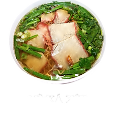 24. ROASTED PORK EGG NOODLE SOUP (chicken broth)