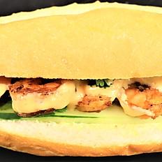 87b.  Grilled shrimp sandwich
