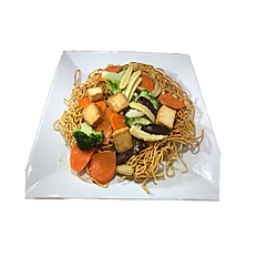 93. VEGETARIAN PAN FRIED EGG NOODLE W. TOFU & VEGGIE