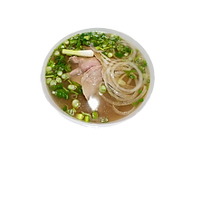 14. BEEF NOODLE SOUP WITH SLICED RARE STEAK (Beef broth)