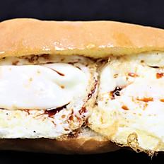 87a.  Over easy egg sandwich