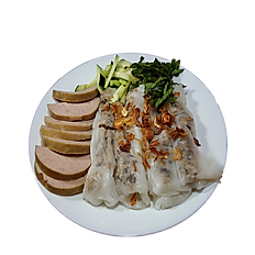 48. VIETNAMESE STEAMED GROUND PORK RICE ROLL W/ VIETNAMESE HAM