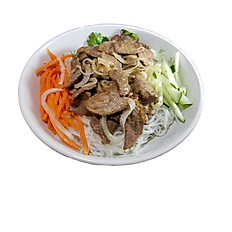 35. STIR FRIED LEMONGRASS BEEF VERMICELLI NOODLE.