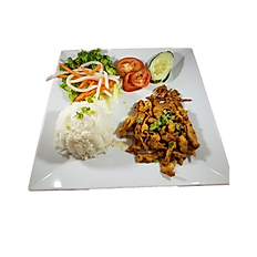 68. GRILLED CHICKEN W/ BROKEN RICE