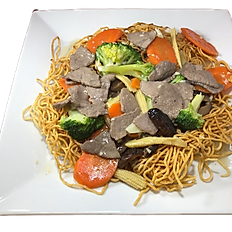 58a. BEEF STIR FRIED EGG NOODLE