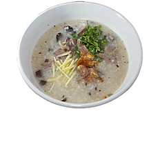 52. CONGEE W/ PORK ORGAN & PORK BLOOD