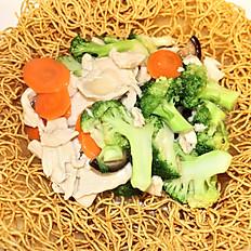 57b.  Chicken pan fried egg noodle (crispy)