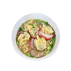 26. ROASTED PORK & WONTON EGG NOODLE SOUP (chicken broth) 6 PCS