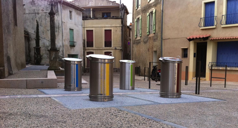 Conteneurs enterrés à Narbonne