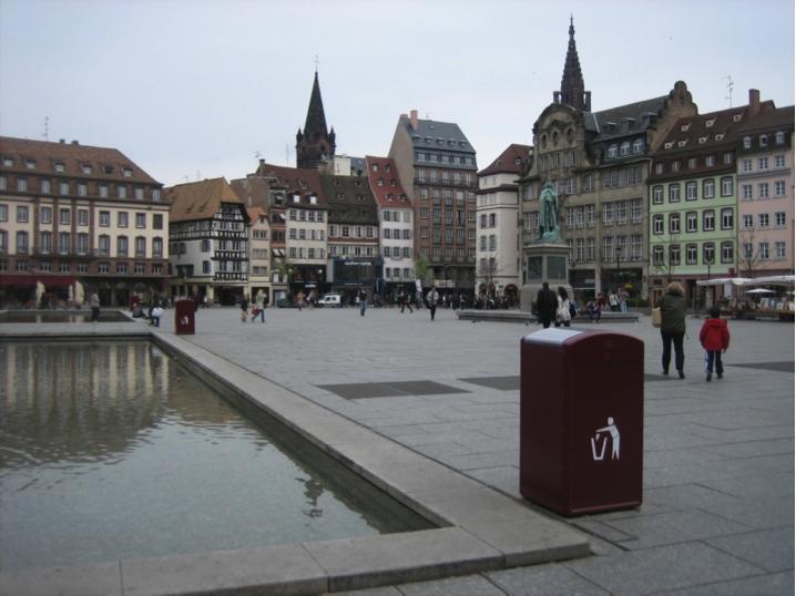Corbeille intelligente à Strasbourg