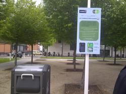 BigBelly au parc des portes de Paris
