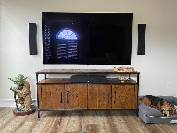 flush mounted speakers, audio video installation, santa rosa beach
