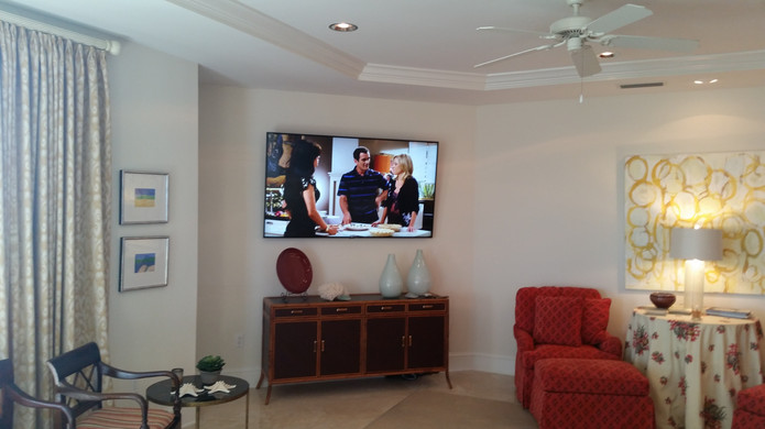 Destin TV wall mounted 75 inch