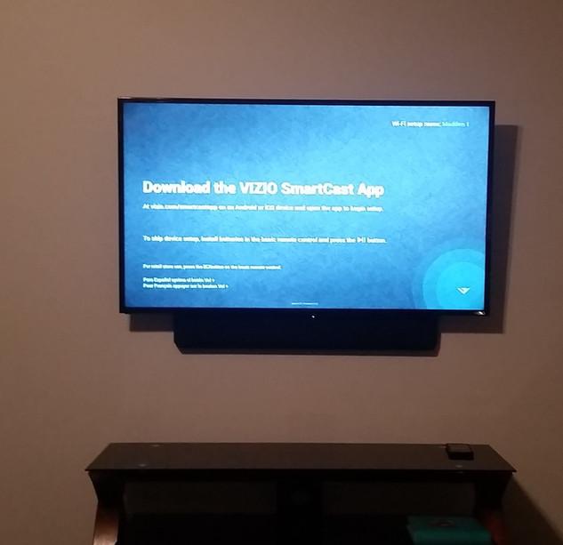 CTech TV and Soundbar Mounted Destin
