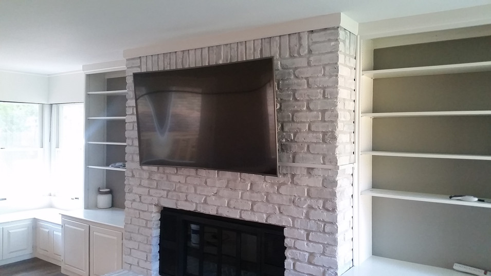Fort Walton Beach, FL Brick Fireplace TV mounted