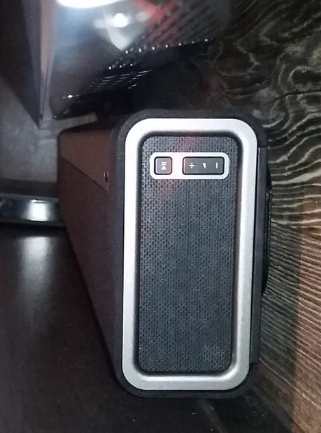 Sonos soundbar mounted under 65 inch wall mounted TV Santa Rosa Beach