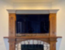 65 Wooden Fireplace mounted TV Miramar Beach FL
