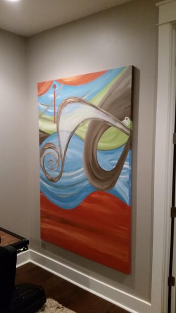 CTech Art hanging Rosemary Beach