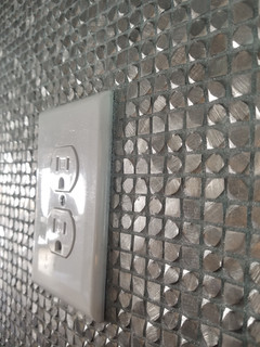 Stainless stubbed wall close up destin fl
