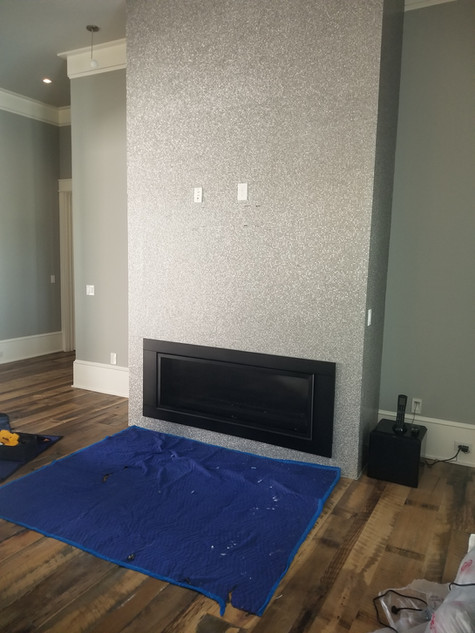 Stainless stubbed wall before tv wall mounting
