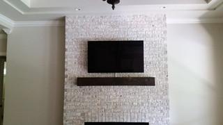 Crestview FL TV on Brick Fireplace2