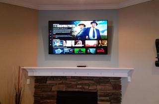 CTech TV Mounted fireplace Crestview