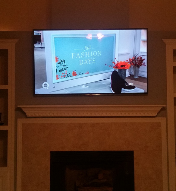 Crestview, FL TV Mounted above Fireplace