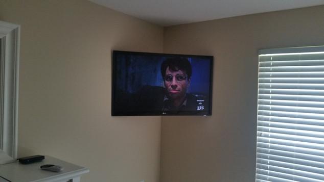 Corner Mounted TV