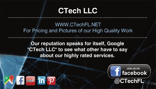 CTech Home Theater TV Wall mounting services