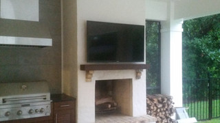 Destin Outside TV Mounted over Fireplace