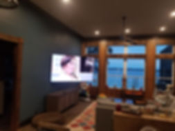 "70"" TV on articulating Wall Mount Fort Walton Beach"