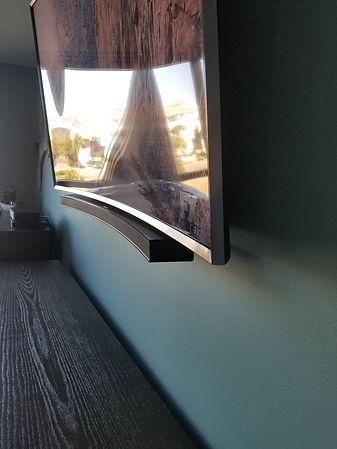 curved soundbar curved TV, A/V company CTech LLC, 30A