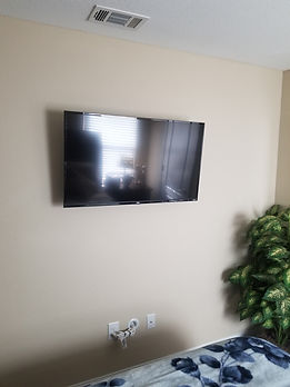 TV Mounted with power kit Fort Walton